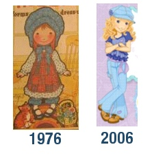 Though Holly Hobbie didn't really look modern for the '70s either.  1870s, yes.